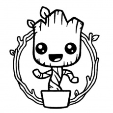 71 Groot free clipart