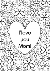 I Love You Mom | Free Coloring Pages on Masivy World