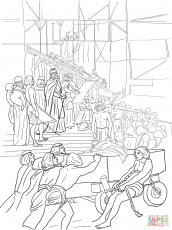 King Solomon Builds the Temple coloring page | Free Printable ...