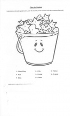Bucket Filler Color by number Coloring Page
