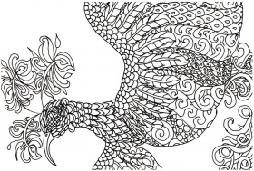 Coloring Pages: Free Adult Coloring Book Page – Fantasy Bird ...