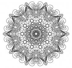 Mandalas to Color - Intricate Mandala Coloring Pages: Advanced ...