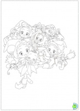 Magical Doremi 020 Coloring Page Free Ojamajo Doremi Coloring - Magical-doremi-coloring-pages