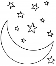 50 Astonishing Moon And Stars Coloring Page Image Ideas – Slavyanka