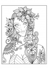 coloring pages for adults | Hard Coloring Pages for Adults - Best Coloring  Pages For … | Fall coloring pages, Flower coloring pages, Printable flower coloring  pages
