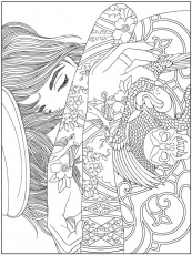 free-hard-coloring-pages | Abstract coloring pages, People coloring pages,  Printable adult coloring