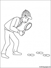 Detective coloring page | Coloring pages