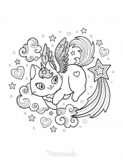 75 Magical Unicorn Coloring Pages for Kids & Adults | Free Printables |  Unicorn coloring pages, Star coloring pages, Coloring pages