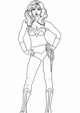 Wonder Woman Coloring Pages Coloring Page For Kids | Kids Coloring