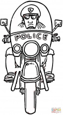 Police Officer coloring page | Free Printable Coloring Pages