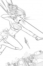Super Girl - Coloring Pages for Kids and for Adults