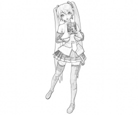 15 Pics Of Vocaloid Miku Coloring Pages Hatsune Miku Coloring Hatsune Miku Coloring Pages