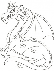 coloring dragon pictures