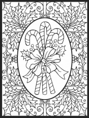 christmas stain glass coloring page