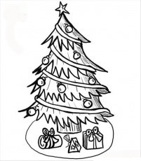 trees in spizza for kids Colouring Pages