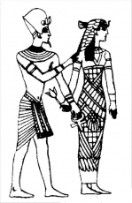 The King and Queen of the Nile from Ancient Egypt Coloring Page