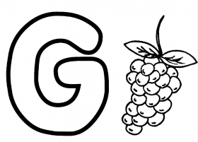 Printable G Coloring Page