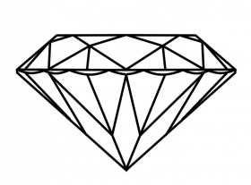 diamond shape coloring page
