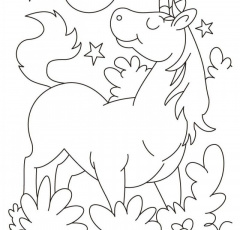 Cute Cartoon Unicorn Coloring Pages - Kids Colouring Pages