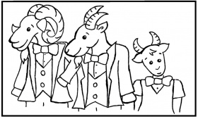 three billy goats gruff coloring pages