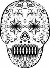 Day of the Dead Coloring page | Sugar Skulls