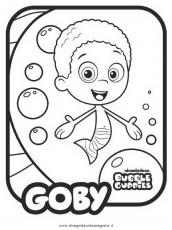 bubble bubble GUppies Colouring Pages