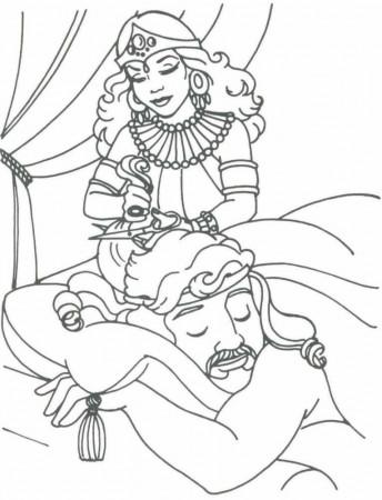 Samson Coloring Pages  Samson And Delilah  Samson Judges