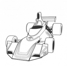 BSA Indy Car Race Coloring Page