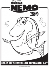 Finding Nemo's Dory - Free Printable Coloring Pages