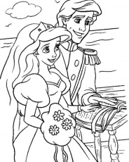 Download Ariel And Eric Making Vow Little Mermaid Disney Coloring