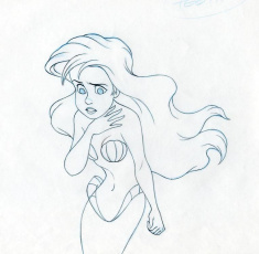 Disney THE LITTLE MERMAID Animator's Extreme Drawing ARIEL, 1989