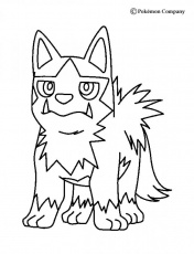 DARK POKEMON coloring pages - Poochyena
