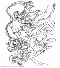 MERMAID MELODY coloring pages - Noel Mermaid Princess