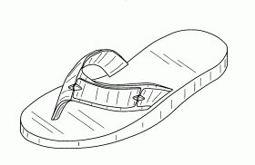 7 Best Images Of Free Printable Flip Flop Coloring Pages