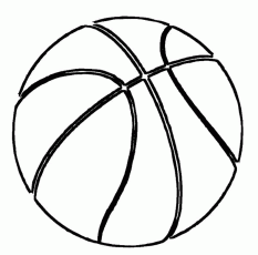 Basketball Coloring Page - Coloring Pages for Kids and for Adults