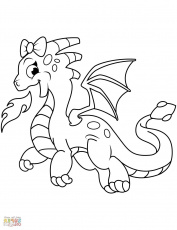 Dragon City Coloring Page - youngandtae.com | Dragon coloring page, Disney coloring  pages, Cartoon dragon