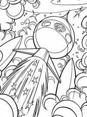 Outer space, Coloring pages and Coloring