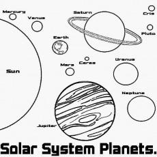 Coloring Book Pages Solar System - Coloring
