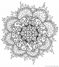 Free Printable Mandalas Coloring Pages Adults | Free Coloring Pages