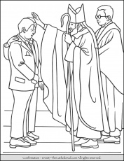 Sacrament of Confirmation Coloring Page. | Catholic coloring, Coloring pages,  Jesus coloring pages