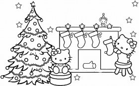Hello Kitty Happy Merry Christmas Coloring Pages Free Kids - Printable Christmas Coloring Pages - Printable Christmas Coloring ... - Christmas Coloring Pages For Kids Printable