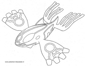 Pokemon Kyogre Coloring Page