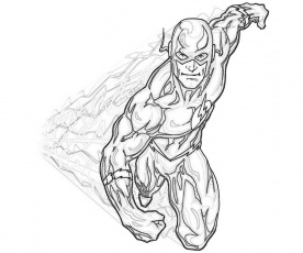 coloring page of flash