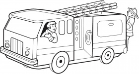Fire Engine Coloring Pictures - High Quality Coloring Pages