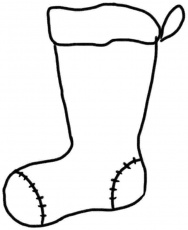 Coloring Pages Christmas Stocking - Coloring Page