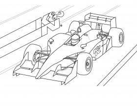 Printable Coloring Pages Formula 1 Race Cars Pictures - Ecolorings.info