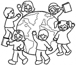 Around the worlds, Coloring pages and The world on Pinterest