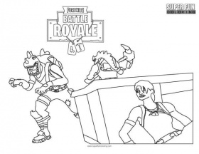 Rex Fortnite Coloring Page - Super Fun Coloring