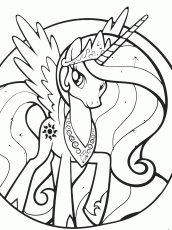 Celestia coloring page by Sakaki709 on DeviantArt