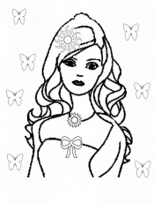 Barbie Printable - Coloring Pages for Kids and for Adults